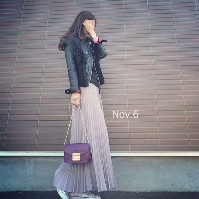 #今日の服 ♡ * 今日もポカポカいいお天気♡ 11月ってこんなに暖かかったかな?? * またまたスニーカーな本日❣ そしてライダースにニットファーベストのお気に入りの組み合わせ♡♪♪ * 本日ニットファーベスト再入荷です❣#20時〜 新作も数点入荷します♪ #詳しくはブログに♡... @dolce.select #セレクトショップdolce * . #プチプラ#プチプラコーデ#coordinate#コーデ#コーディネート#outfit#スニーカーコーデ#ユニママ#ザラジョ#フルラ#メトロポリス#コンバース#ロカリ#ママガール#ママ#ママファッション#ママコーデ