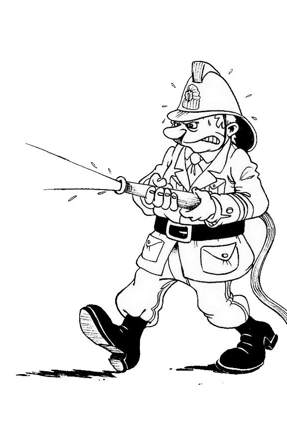 coloring pages firemen - photo#26