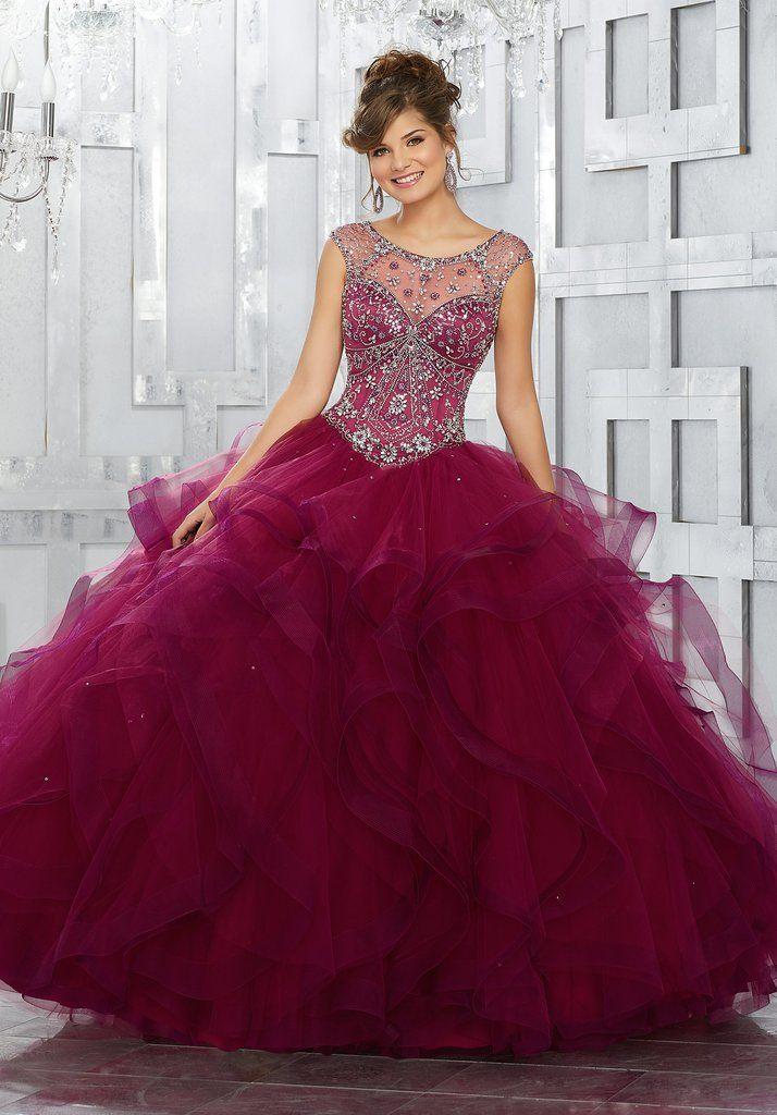 512973e1fde Beaded Illusion Quinceanera Dress by Mori Lee Vizcaya 89141-Mori Lee Vizcaya -ABC Fashion