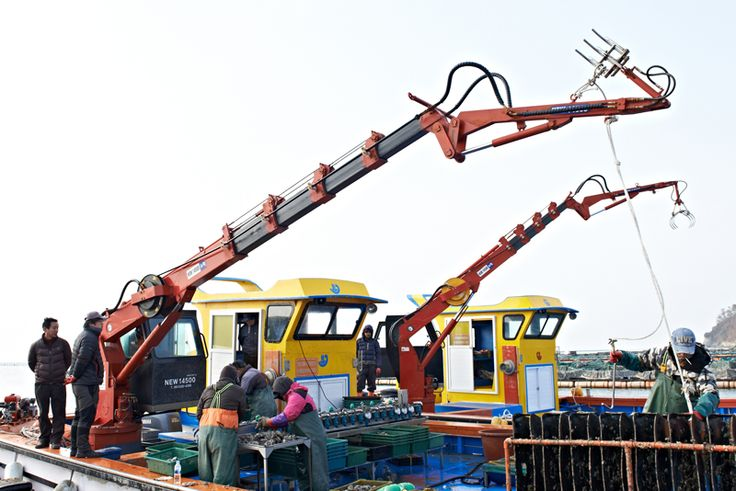 Crane for aquaculture