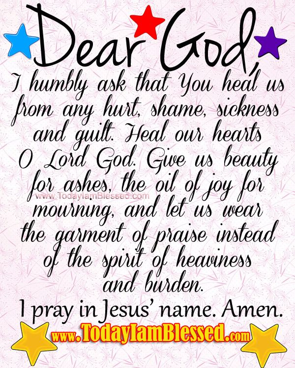 prayer for healing and strength | Prayer for Healing from www.TodayIamBlessed.com.