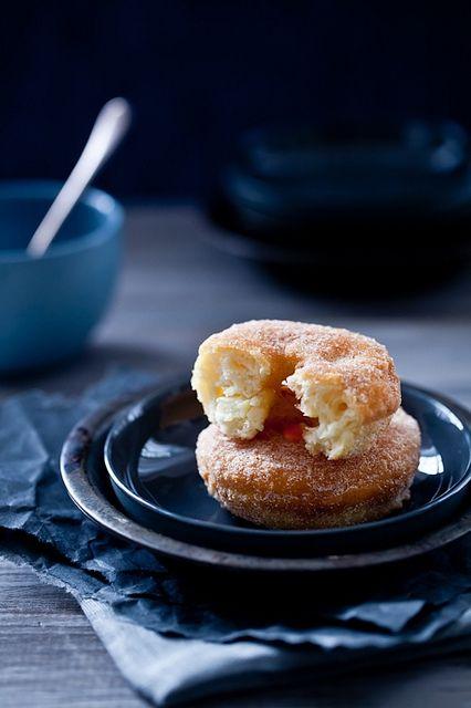 Gluten Free Apple Cinnamon Doughnuts by tartelette