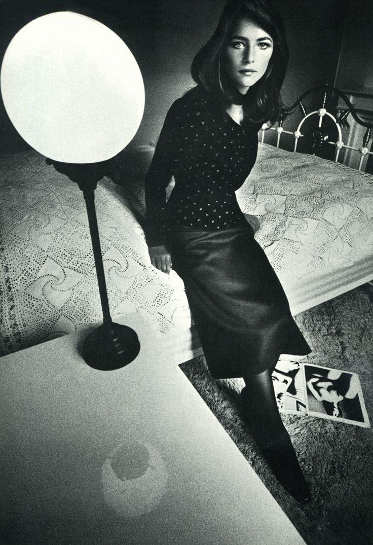 Jean Loup Sieff. Charlotte Rampling. Vogue France, 1970.