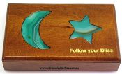 Follow you bliss wood and agate box