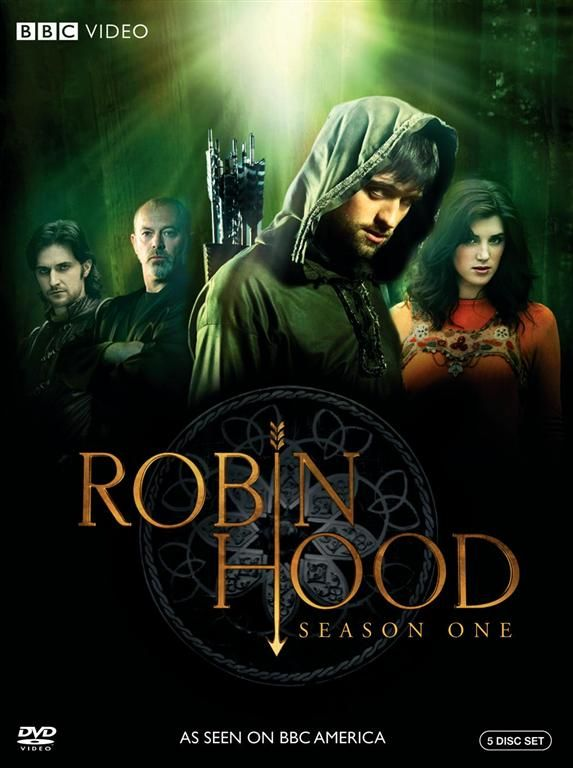BBC's Robin Hood.  A great TV show version of Robin Hood.  Rather silly and poor production to start, but if you stick with it it gets pretty good.  And Richard Armitage plays Guy of Gisbourne, which is awesome!