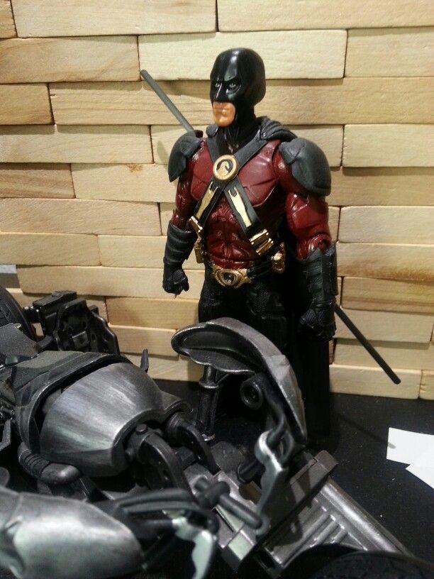 Red Robin Rises.  I modified an action figure to look like how I think Robin Blake would look in a Dark Knight Rises sequel.