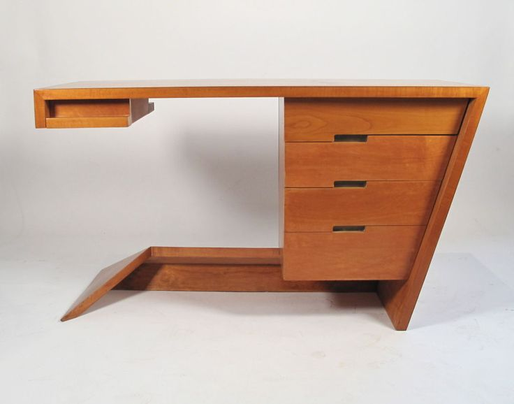 Rare Asymmetrical Desk, 1947 By Dan Johnson   Hayden Hall