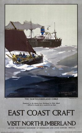 'East Coast Craft; The Northumberland Coble', LNER poster, 1923-1947. by Mason, Frank Henry at Science and Society Picture Library
