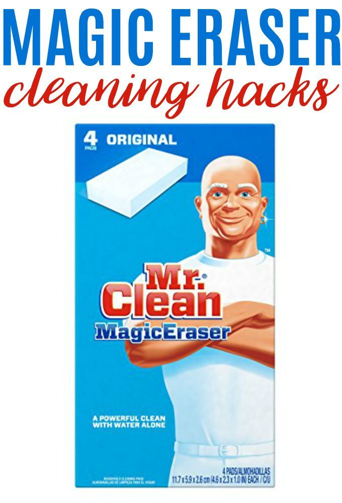 Keep your home clean without bottles of chemical cleaning agents when you use these 6 Magic Eraser cleaning hacks. Get your home clean quickly and easily!