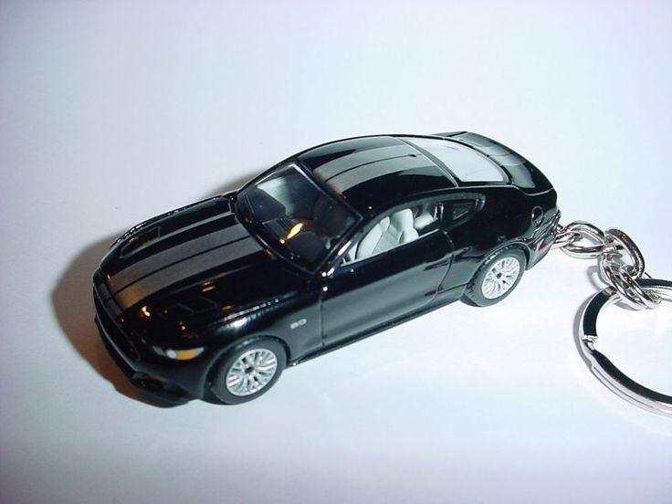NEW 3D BLACK 2015 FORD MUSTANG GT CUSTOM KEYCHAIN keyring key roush BACKPACK 5.0 #Unbranded