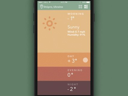 Weather app by #Tubik