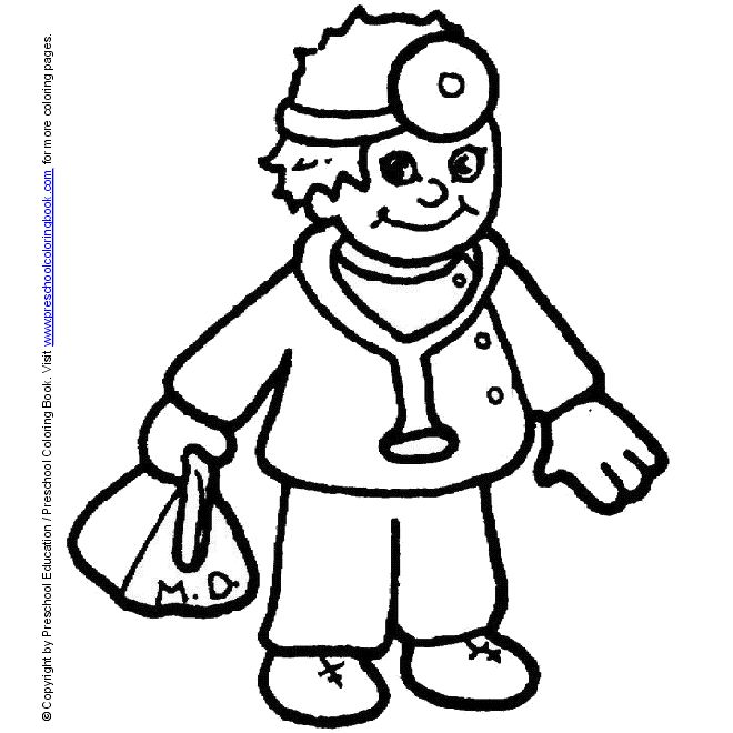 Doctor Coloring Pages Pinterest