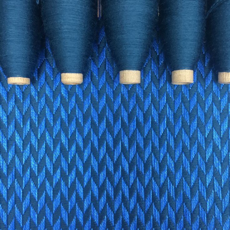 I'm loving these two blues together. This commission will have silvery grey bamboo pompom's added once it's off the loom. #sustainablefashion #sustainable #sustainableliving #sustainabletextiles #sustainabledesign #eco #ecofriendly #ecotextiles #plantbased #vegan #crueltyfree #organic #weaver #woven #woventextiles #textile #textiledesign #textiledesigner #madeinhampshire #madewithlove #footpowered #organiccotton #organiccottonyarn #bamboo #bambooyarn #royalblue #petrolblue #pompom #pompoms