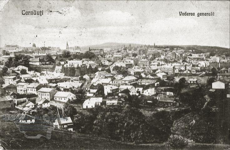 Cernăuţi. Plasa Cosmin. Orașul Cernăuți. Vedere generală. 1924
