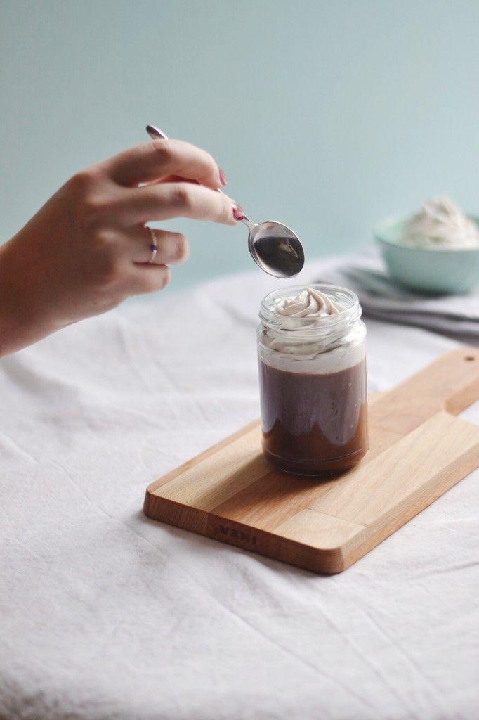 Dessert liégeois au chocolat 100% végétal sans sucre raffiné