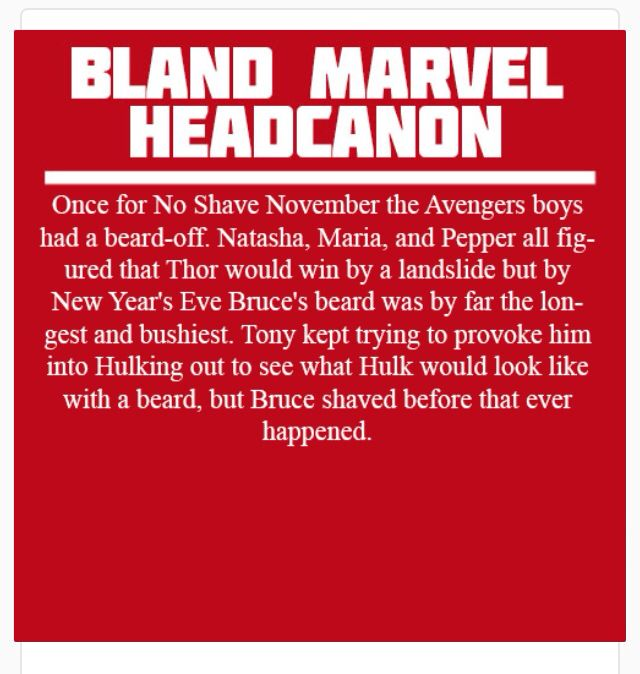 Marvel Headcanon