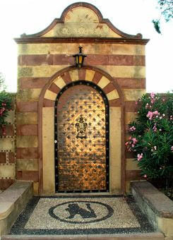 Chios island Greece  Kampos gate in the Argentiko
