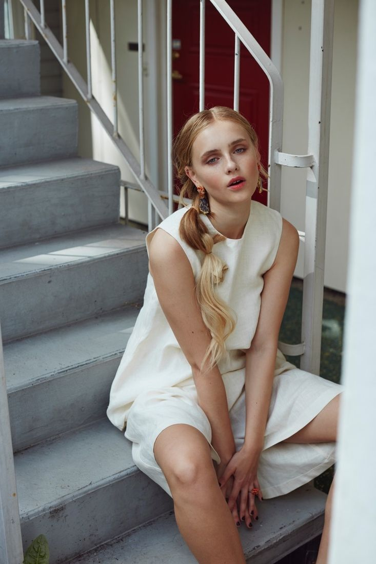CLEAN X HASLA HASLA X CLEAN Photographer: Renate Torseth Model: Sari Designer/Stylist: Christina Ledang Hairstylist: Sigrid Hesla Breie Makeupartist: Charlotte Wold