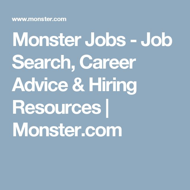 Monster Jobs - Job Search, Career Advice & Hiring Resources | Monster.com
