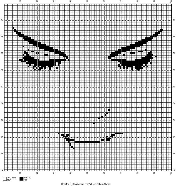 0 point de croix monochrome visage silhouette - cross stitch girl's face