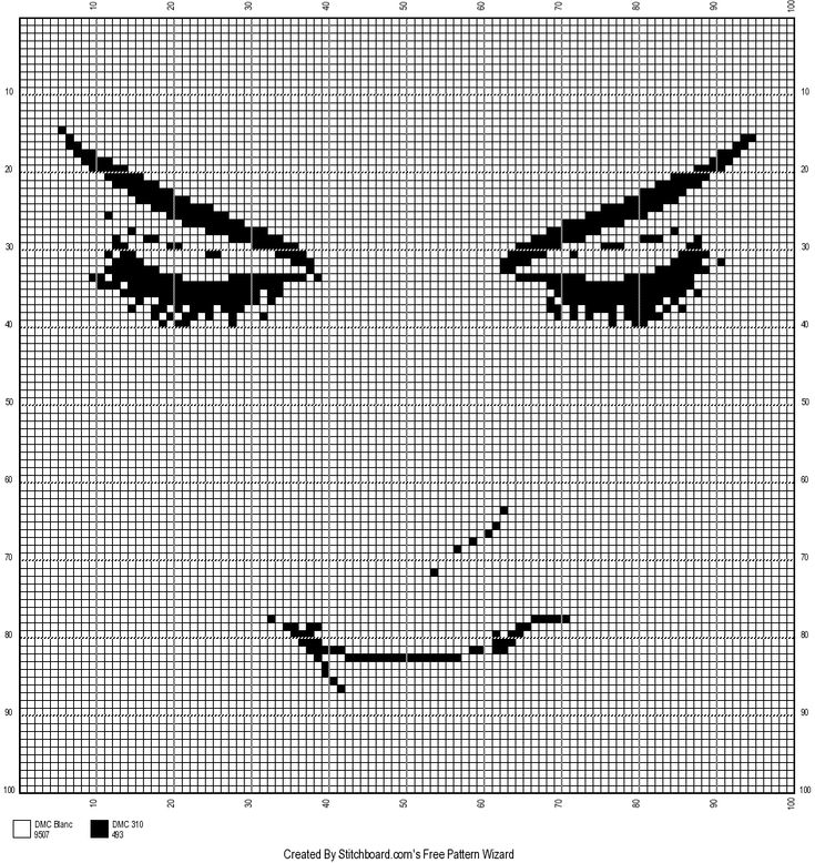 0 point de croix monochrome visage silhouette - cross stitch girl's face