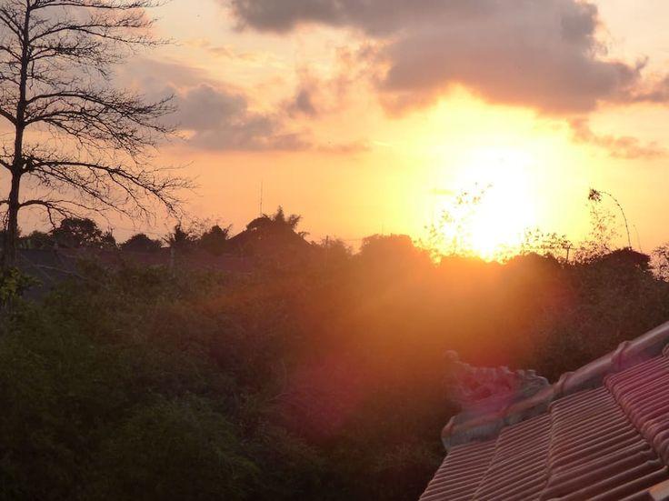 sundown in Villa Tribali