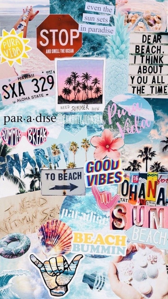 Photo Collage Beach Vibes Beach Photos Cute Backgrounds Good Vibes Iphone Wallpaper Vsco Wallpaper Iphone Summer Wallpaper Iphone Cute