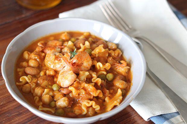 Pasta e legumi con gamberetti al curry || Cirio, gusta le nostre ricetta.