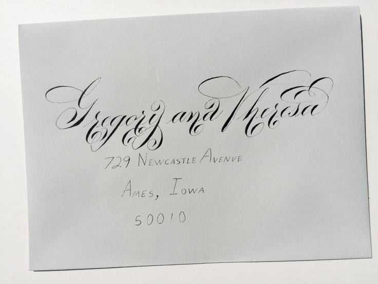 111 Best Images About Brushlettering Envelopes On