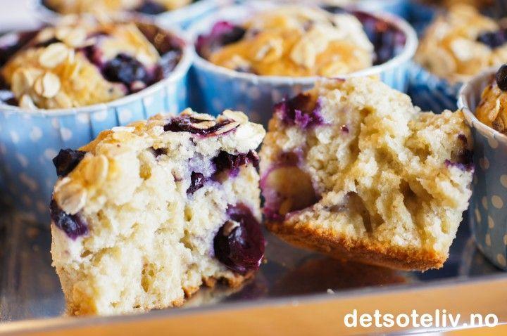 Muffins med blåbær og banan | Det søte liv! Deilige muffings til hverdags men også bursdag:) Kan anbefales!