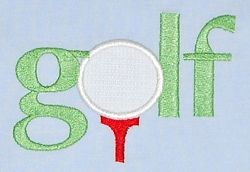 Golf Applique - 2 Sizes! | Golf | Machine Embroidery Designs | SWAKembroidery.com Applique for Kids