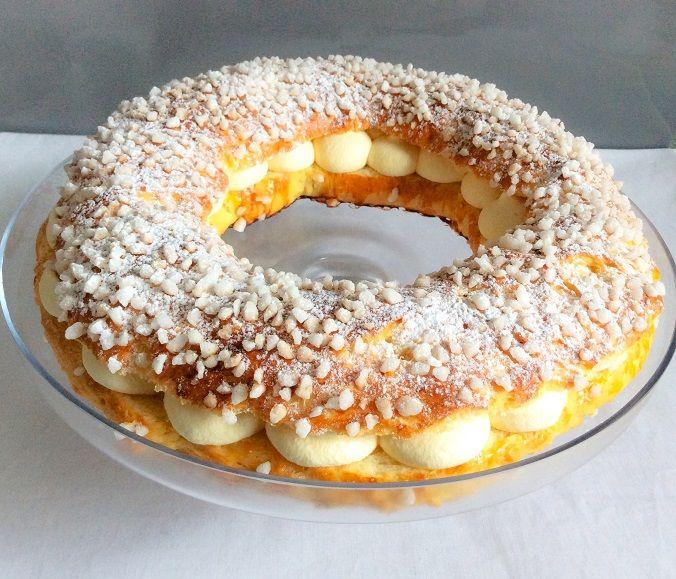 couronne tarte Tropézienne pâtisserie brioche sucre perlé