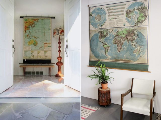 The Best Images About Decorating With Maps On Pinterest Wall