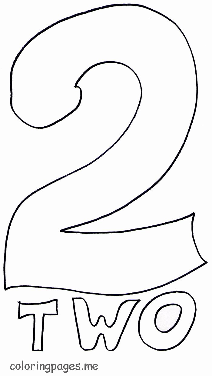 Number Two Coloring Page In 2020 Color By Number Printable