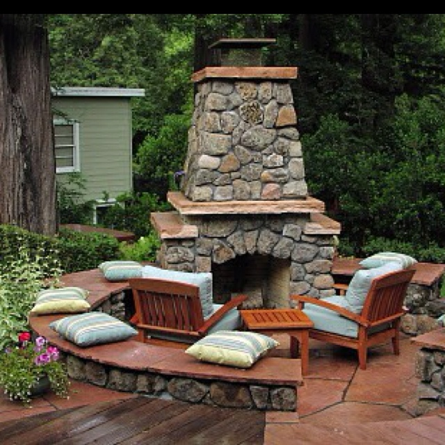122 best fireplaces rustic patio outdoor kitchens images on