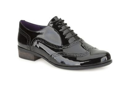 Womens Casual Shoes - Hamble Oak in Black Patent from Clarks shoes