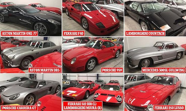 The Aladdin\'s cave of classic cars: £20million treasure trove of 27 vehicles is sold in one of Britain\'s biggest ever deals John Collins bought collection of 27 cars which includes Ferrari, Mercedes, Porsche and Lamborghini models Among vehicles are Aston Martin One-77 and Ferrari 288 GTO, currently one of the fastest-appreciating classics Vast majority of vehicles have hardly been driven, with 1982 Lamborghini LP500S having mileage of just 500 miles  In total, there are four Aston…