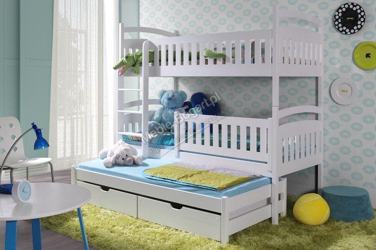 Łóżko piętrowe Ania 3-osobowe - 80 x 190   meble-bogart.pl