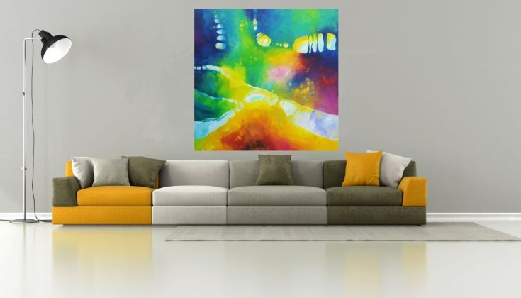 Buy Acid jazz in September  (120x120cm, oil painting), Oil painting by Simon Tünde on Artfinder. Discover thousands of other original paintings, prints, sculptures and photography from independent artists.