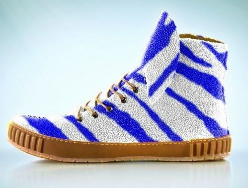 Genuine stingray leather sneakers