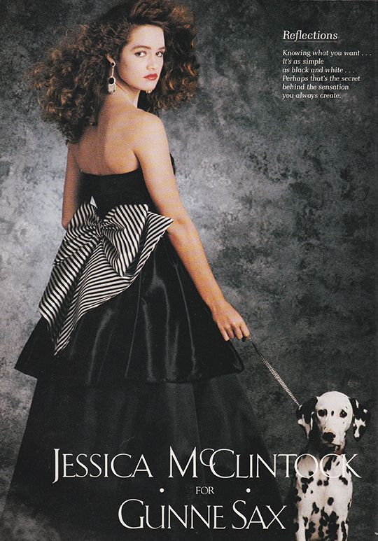 'Knowing what you want… it's as simple as black and white…' (1988) #JessicaMcClintock #GunneSax