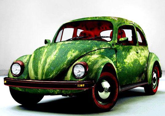 Watermelon beetlePunch Buggy, Watermelon Bugs, Photos Manipulation, Vw Bugs, Watermelon Cars, Foodart, Food Photos, Food Art, Beetles