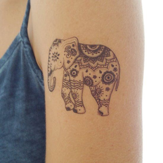 henna elephant tattoo