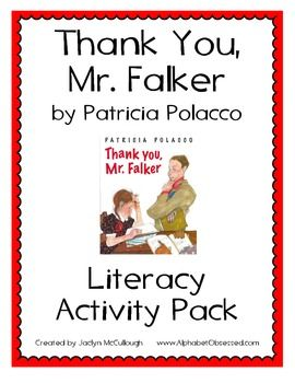 Thank You, Mr. Falker by Patricia Polacco Literacy Activity Pack.  40 Pages of Activities that will enhance your students' learning of the PRECIOUS book Thank You, Mr. Falker by Patricia Polacco!!