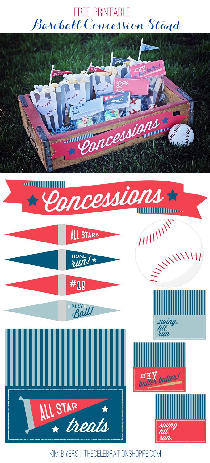 Free Printable Baseball Party Ideas 301 best
