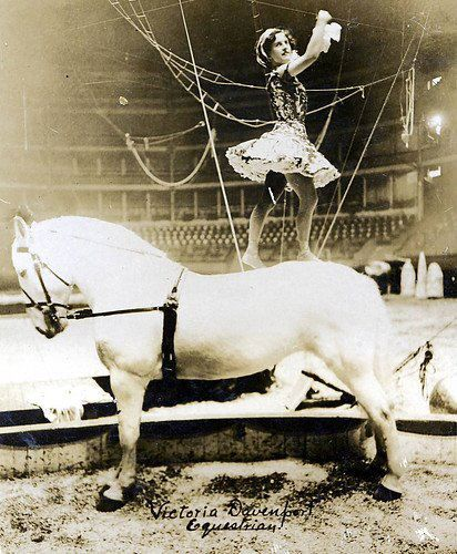 Circus Act  ... I like the look of the ropes in the back... almost ship-like