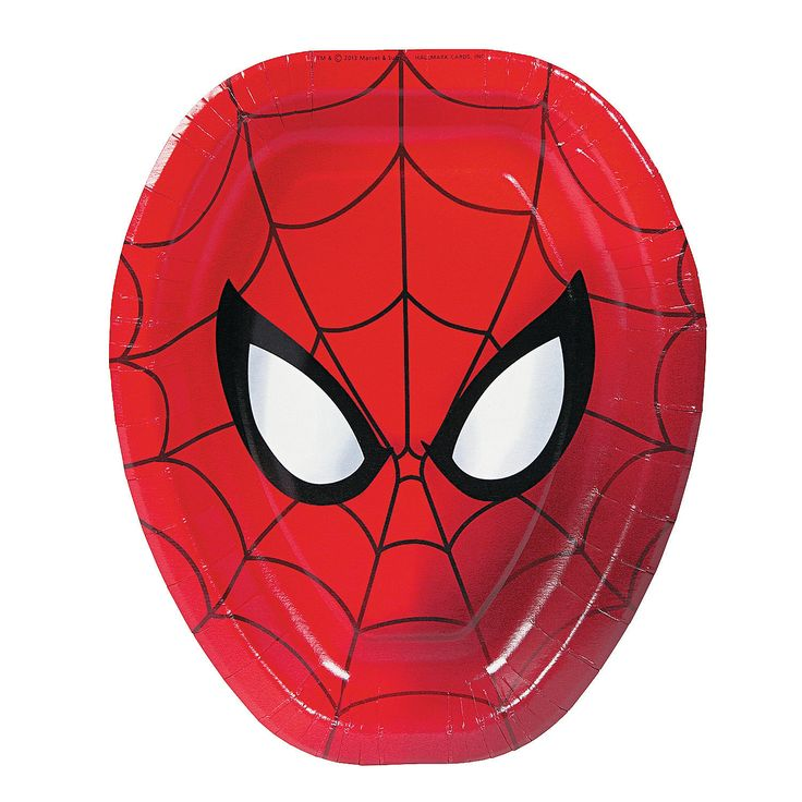 Ultimate Spider-Man Shaped Dinner Plates - OrientalTrading.com