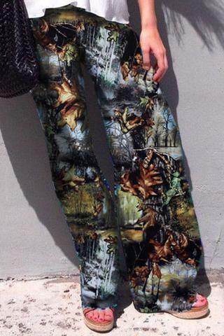 Pantalon Palazzo Digital Print Retro Pantalon Palazzo pas cher - Acheter Pantalon Palazzo soldes à prix de gros, Nouveau collection Pantalon Palazzo promotion boutique à petit prix en ligne  | Modebuy.com