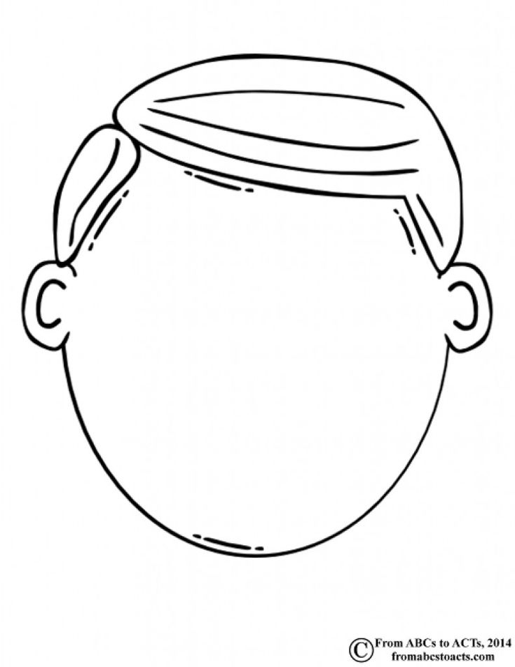 Head coloring pages head coloring page blank face coloring