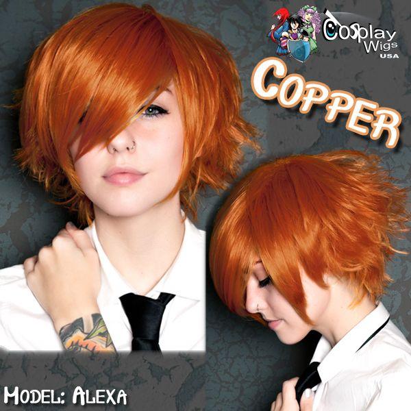CosplayWigsUSA Store - Short Boy Cut - Pumpkin Orange, $36.00 (http://cosplaywigsusa.com/cosplay-wigs-usa/short-boy-cut-pumpkin-orange/)